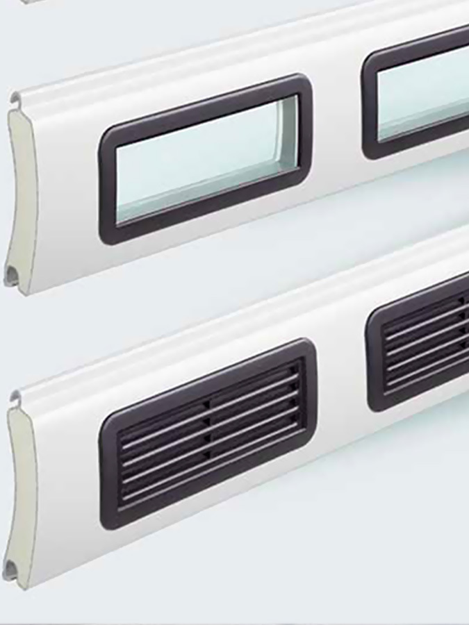 Customize your design with Scratch Resistance Glazing Elements or Ventilation Grilles